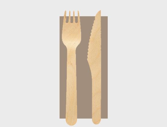 Holzbesteck Set